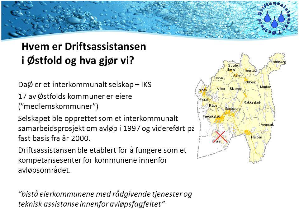 """Hvem er Driftsassistansen i Østfold og hva gjør vi? DaØ er et interkommunalt selskap – IKS 17 av Østfolds kommuner er eiere (""""medlemskommuner"""") Selska"""