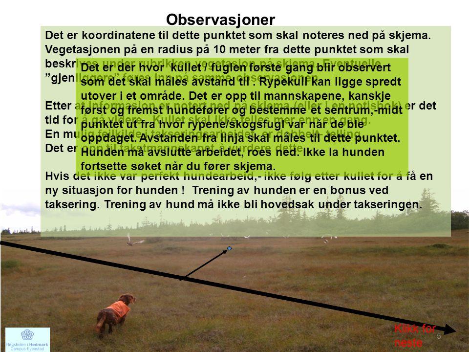 201216 •Alle observasjoner skal skje fra linja.•Vi må finne alle på linja.