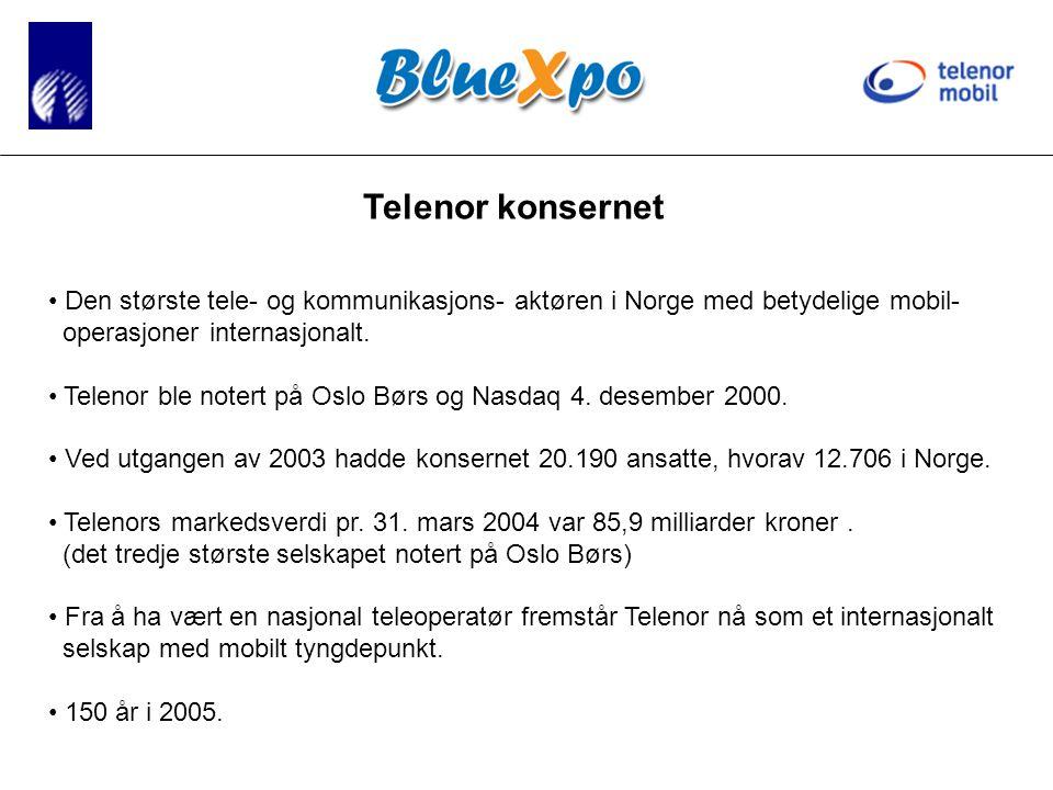 Telenor konsernet • Den største tele- og kommunikasjons- aktøren i Norge med betydelige mobil- operasjoner internasjonalt.