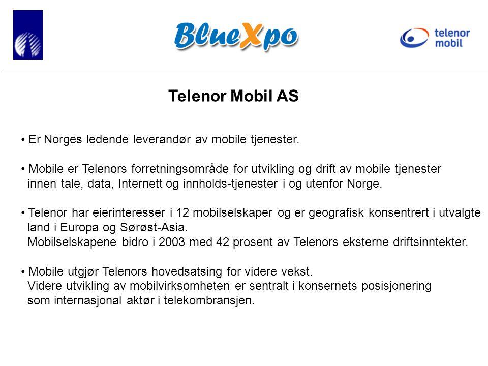 Telenor Mobil AS • Er Norges ledende leverandør av mobile tjenester.