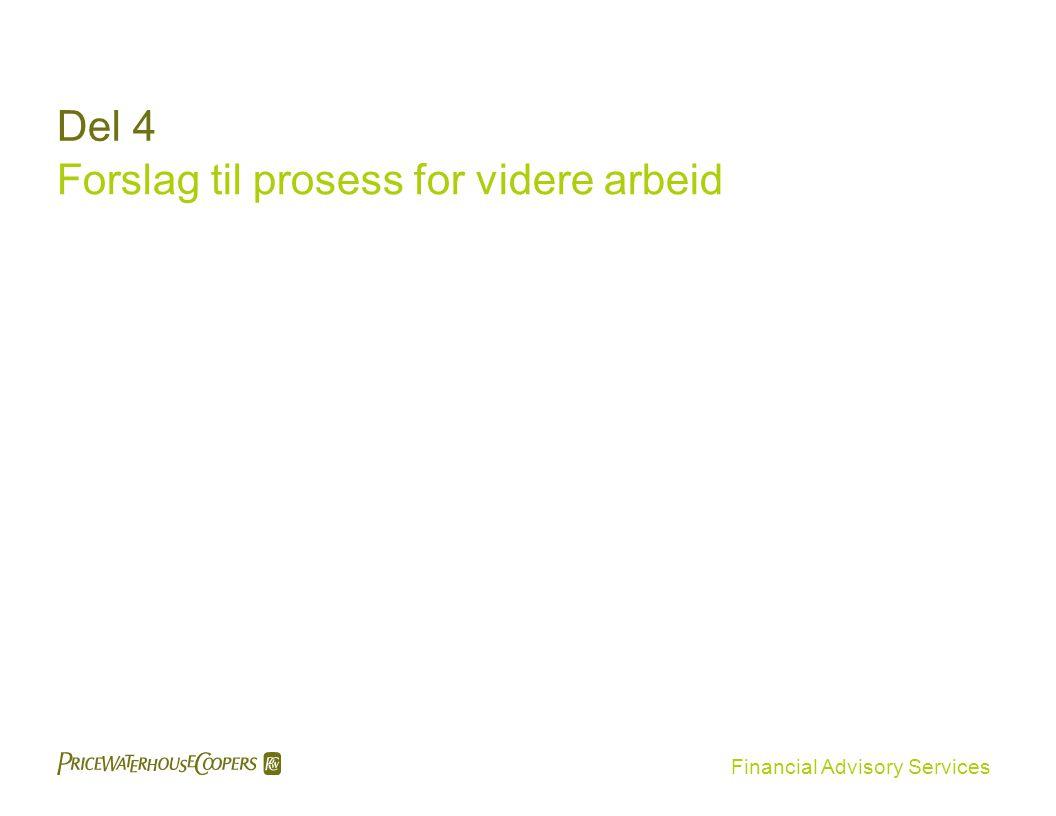 Financial Advisory Services Del 4 Forslag til prosess for videre arbeid