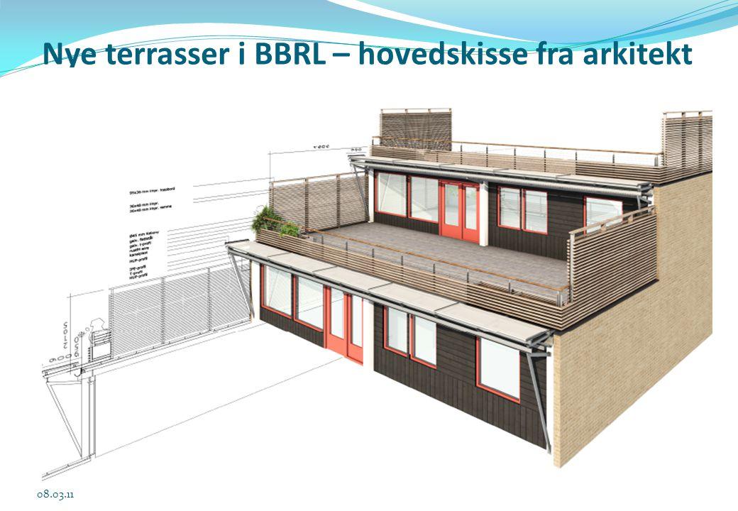 Nye terrasser i BBRL – hovedskisse fra arkitekt 08.03.11