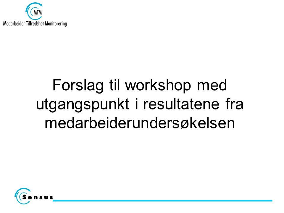 Forslag til workshop med utgangspunkt i resultatene fra medarbeiderundersøkelsen