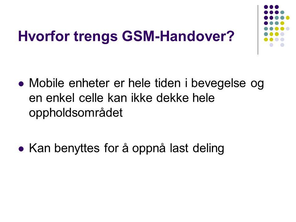 Hvorfor trengs GSM-Handover.