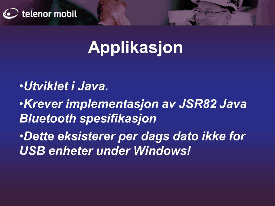 •Utviklet i Java.
