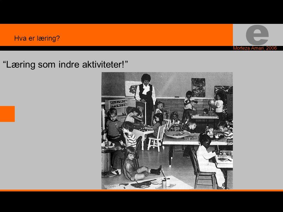 e Morteza Amari, 2006 Læring som indre aktiviteter! Hva er læring