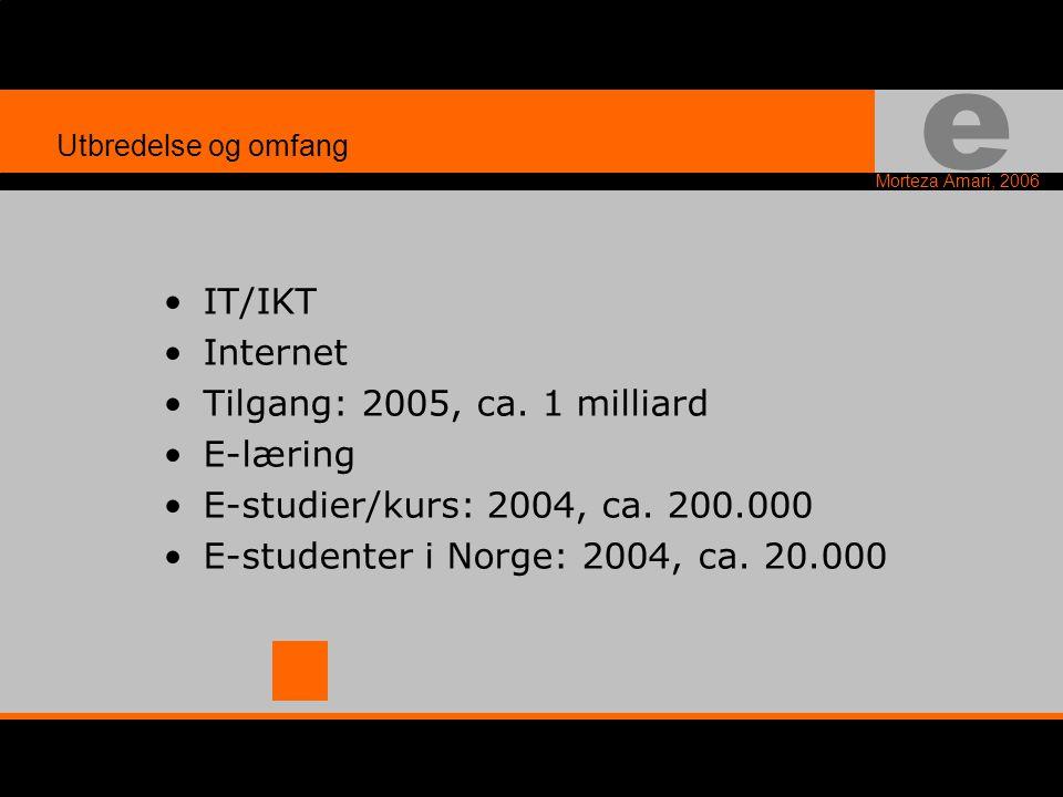 e Morteza Amari, 2006 E E-Post, E-Handel, E-Papir, E-Marked, E-Kort, E-Borger, E-Norge, E-Læring Begrep konstruksjoner