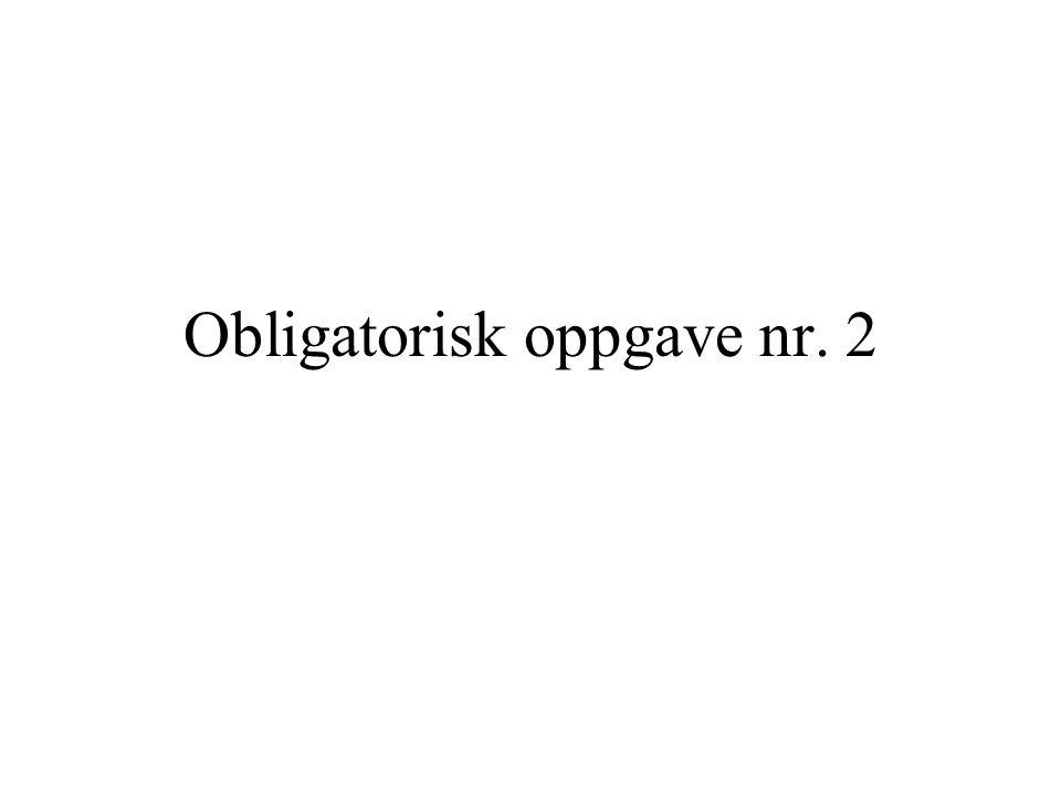 Obligatorisk oppgave nr. 2