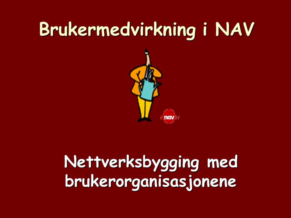Brukermedvirkning i NAV Nettverksbygging med brukerorganisasjonene