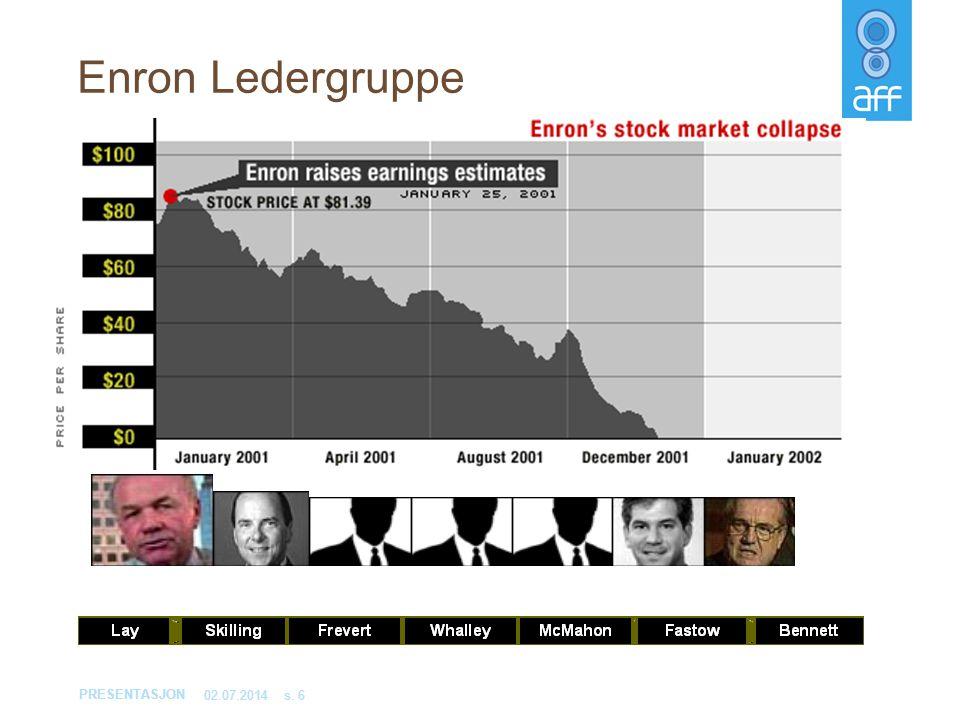 PRESENTASJON 02.07.2014s. 6 Enron Ledergruppe