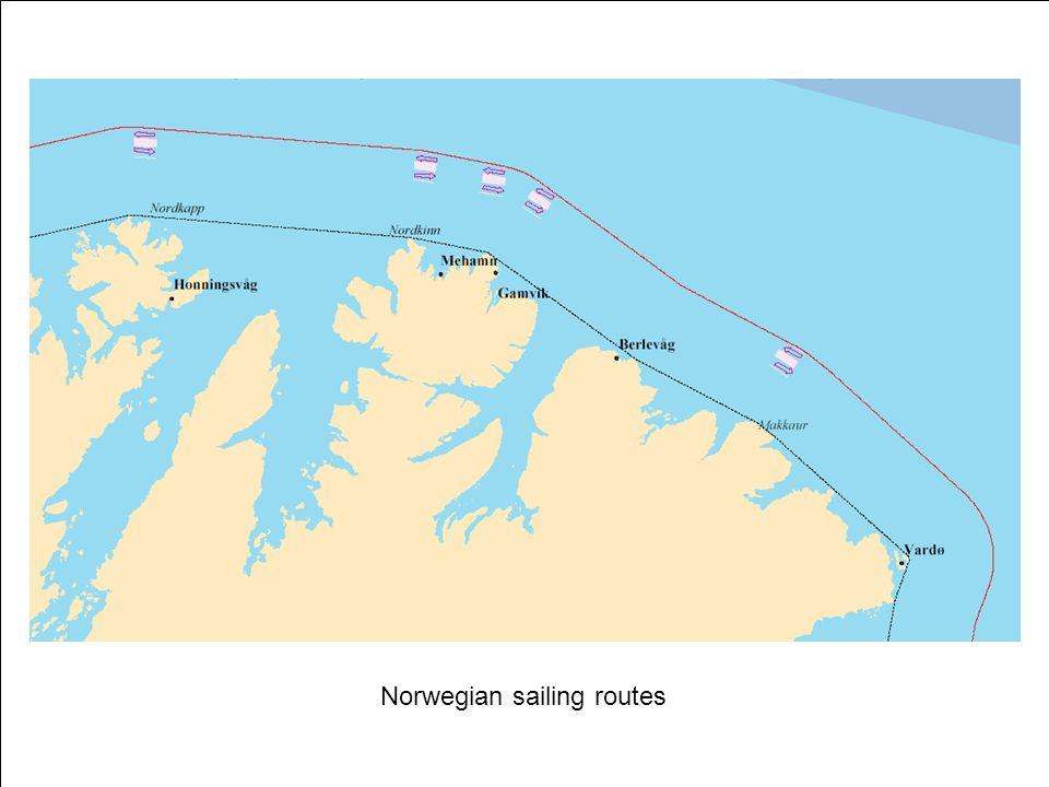 Norwegian sailing routes