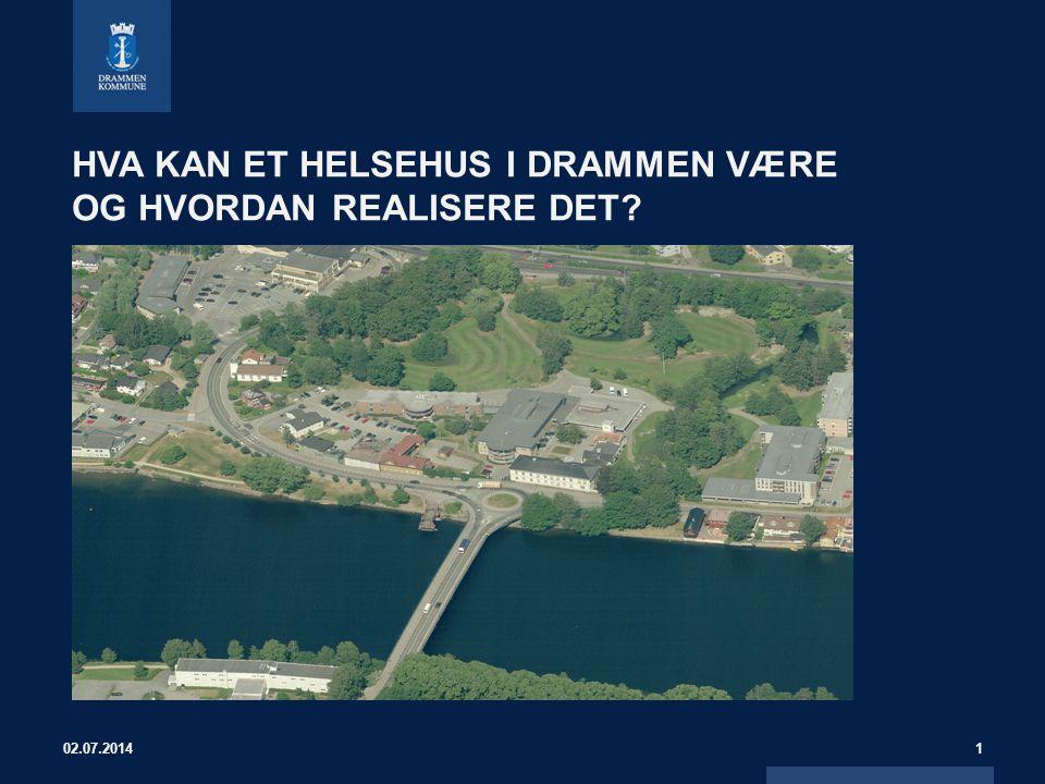 Elementer for vurdering av et helsehuset i Drammen •Tjenestetilbud •Kostnader/finansiering •Tidsplan 02.07.20142