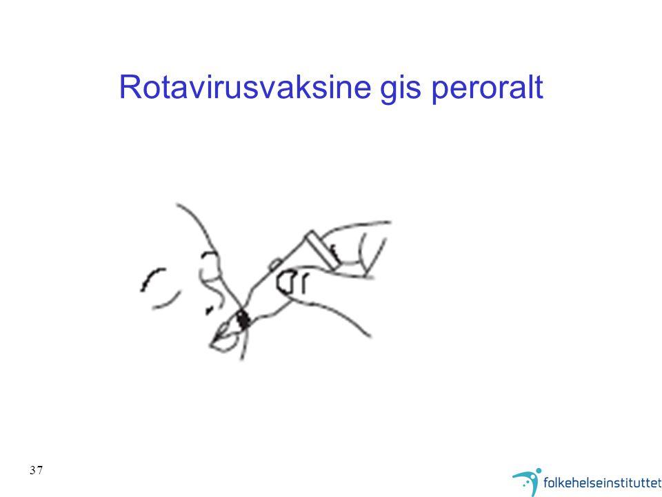 37 Rotavirusvaksine gis peroralt