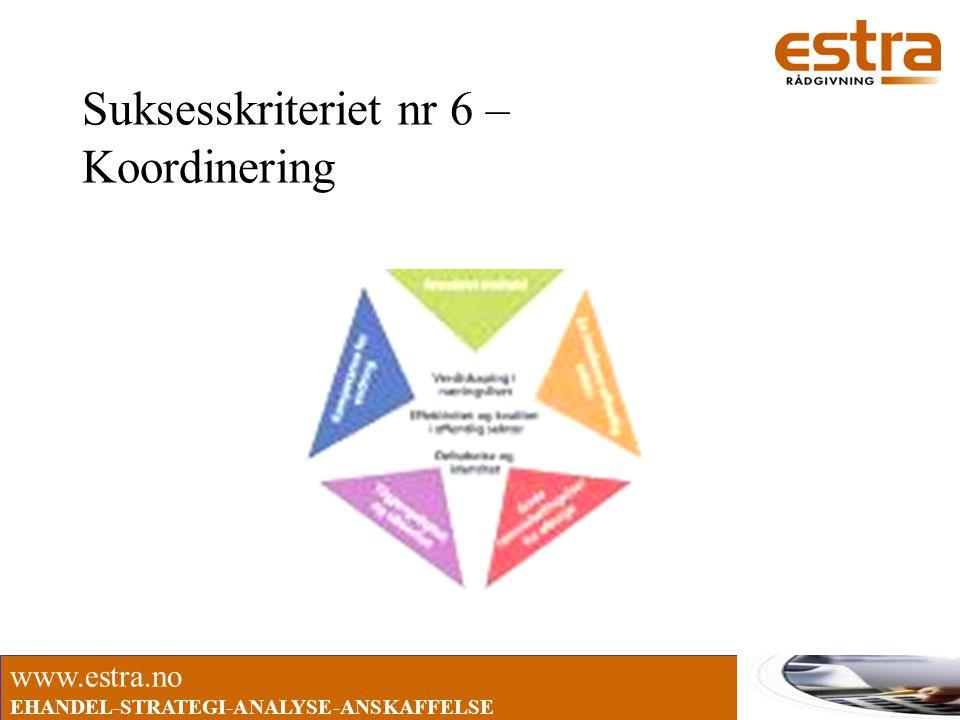www.estra.no EHANDEL-STRATEGI-ANALYSE-ANSKAFFELSE Suksesskriteriet nr 6 – Koordinering