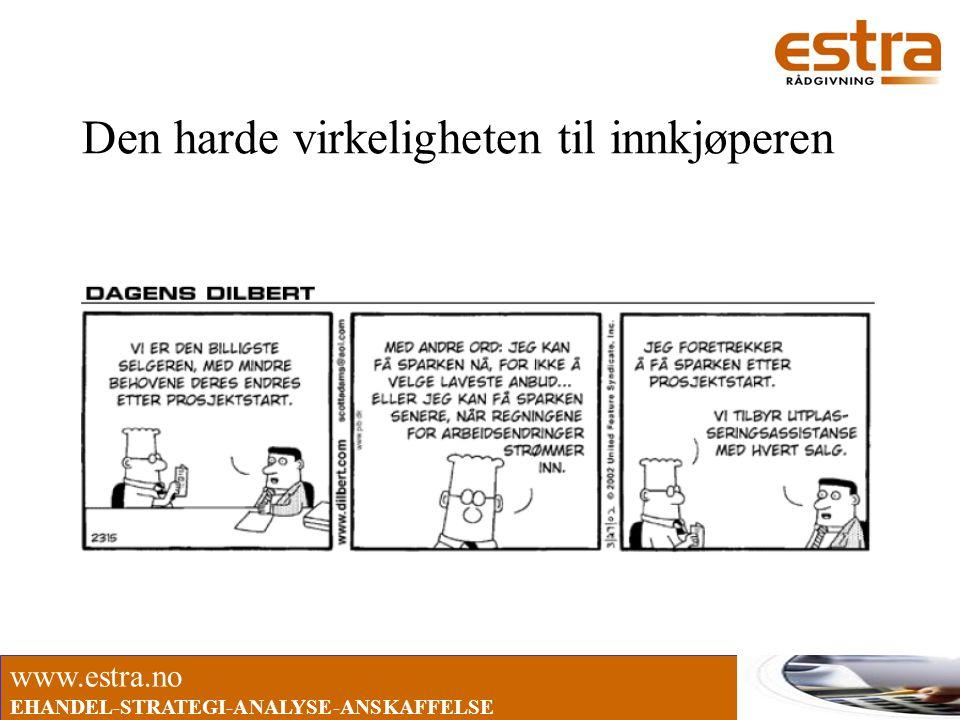 www.estra.no EHANDEL-STRATEGI-ANALYSE-ANSKAFFELSE Den harde virkeligheten til innkjøperen