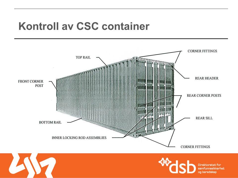 Kontroll av CSC container