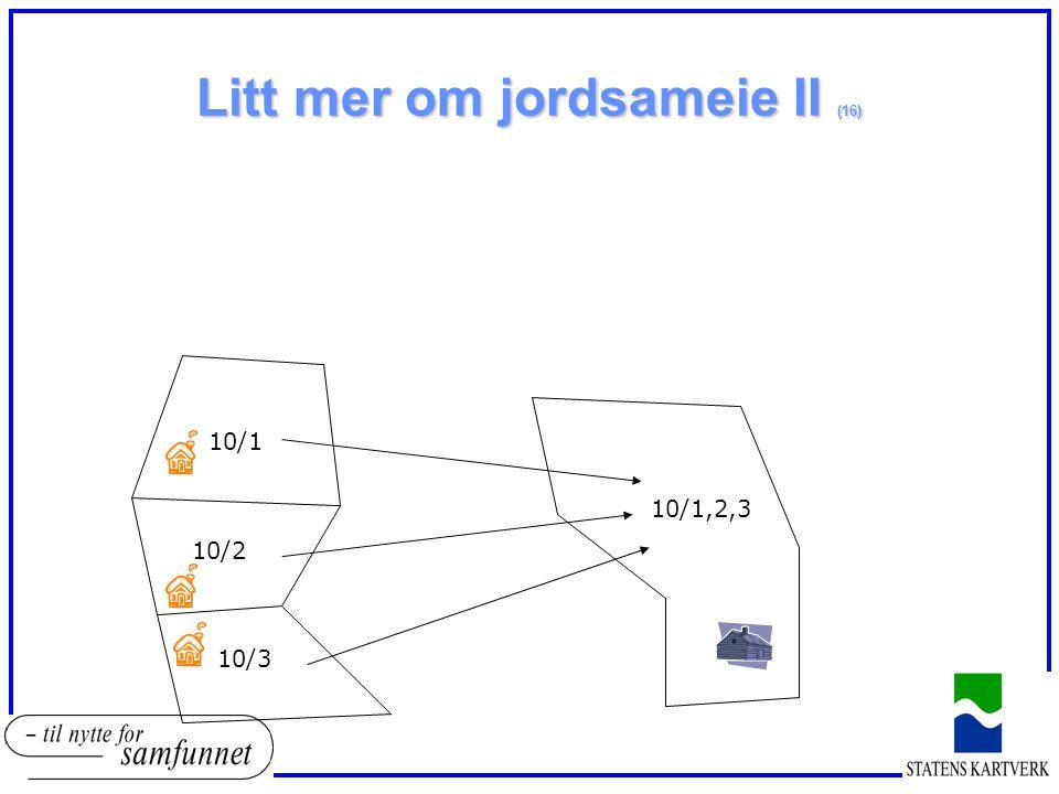 Litt mer om jordsameie II (16) 10/1 10/2 10/3 10/1,2,3