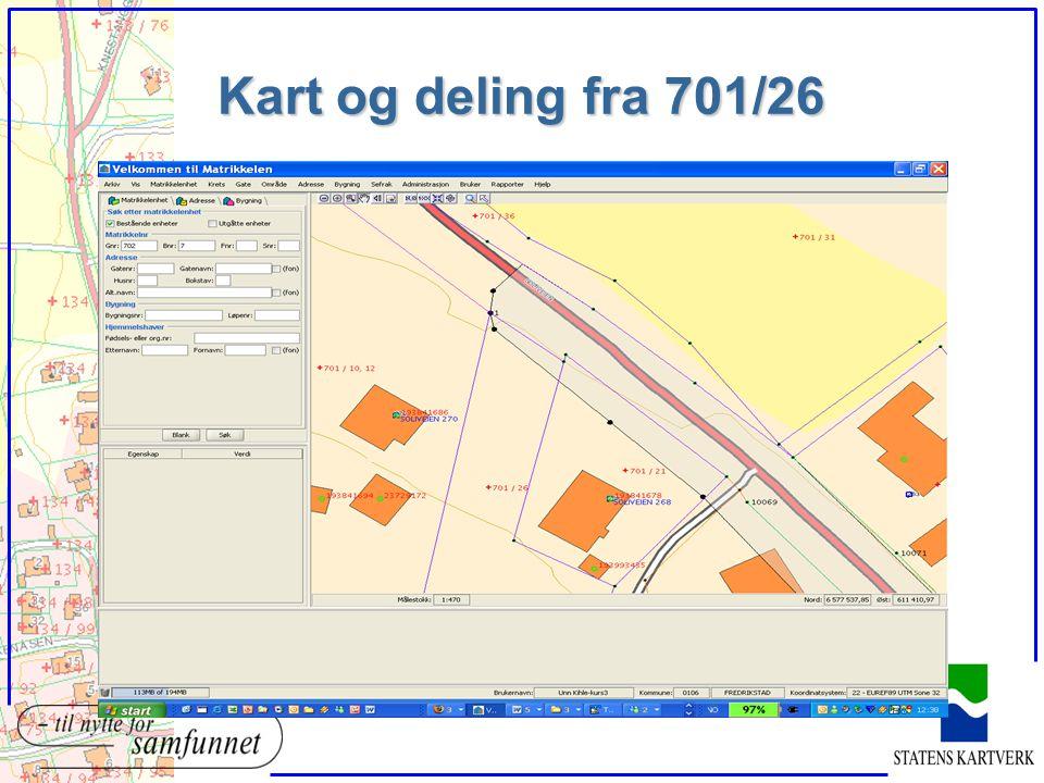 Kart og deling fra 701/26