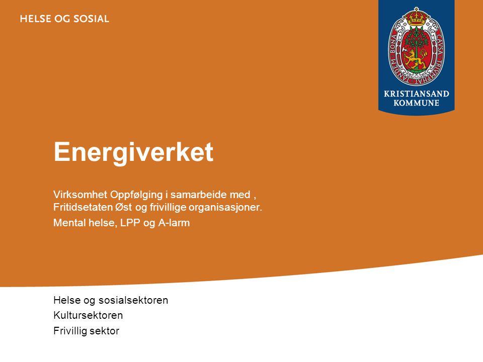 Energiverket Virksomhet Oppfølging i samarbeide med, Fritidsetaten Øst og frivillige organisasjoner. Mental helse, LPP og A-larm Helse og sosialsektor