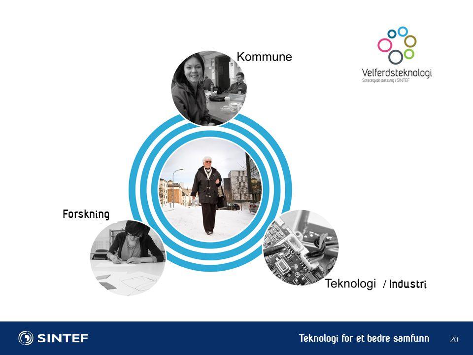 Teknologi for et bedre samfunn 20 / Industri Forskning