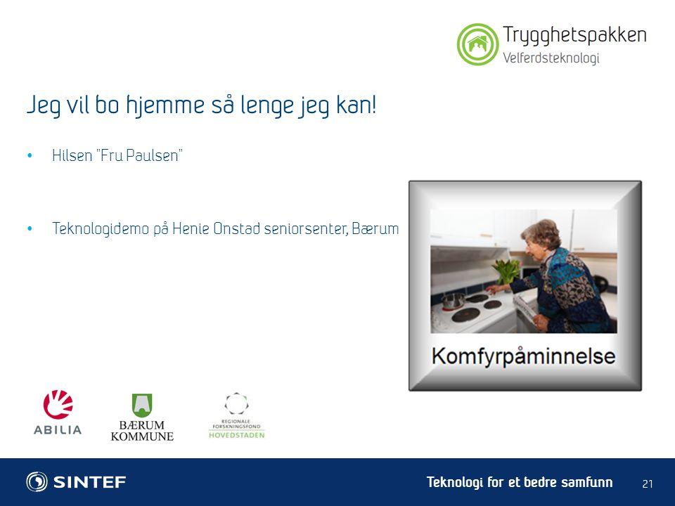 Teknologi for et bedre samfunn • Hilsen