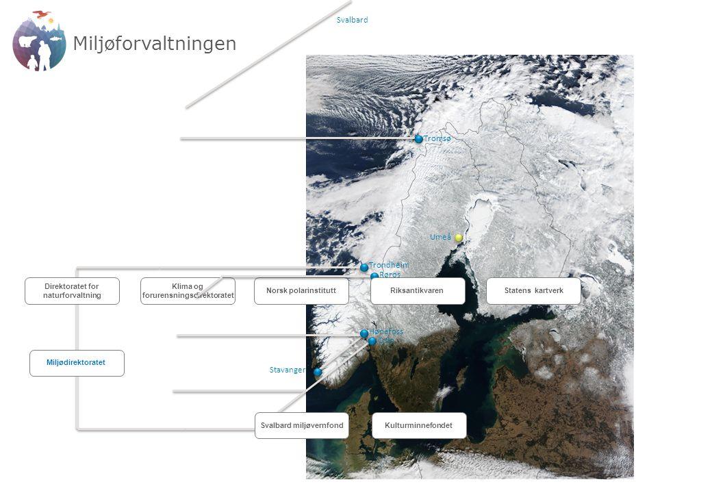 Budsjettutvikling Antall årsverk Nord- og polarområdene (NP) Kart, geodata og eiendomsinformasjon (SK) Fellesoppgaver osv.