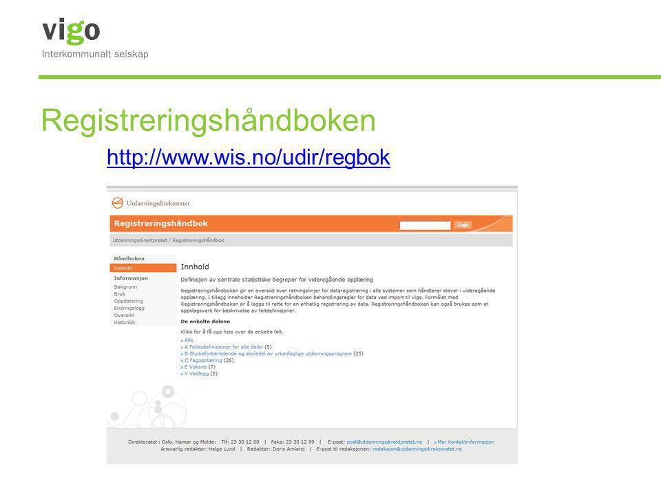 Registreringshåndboken http://www.wis.no/udir/regbok