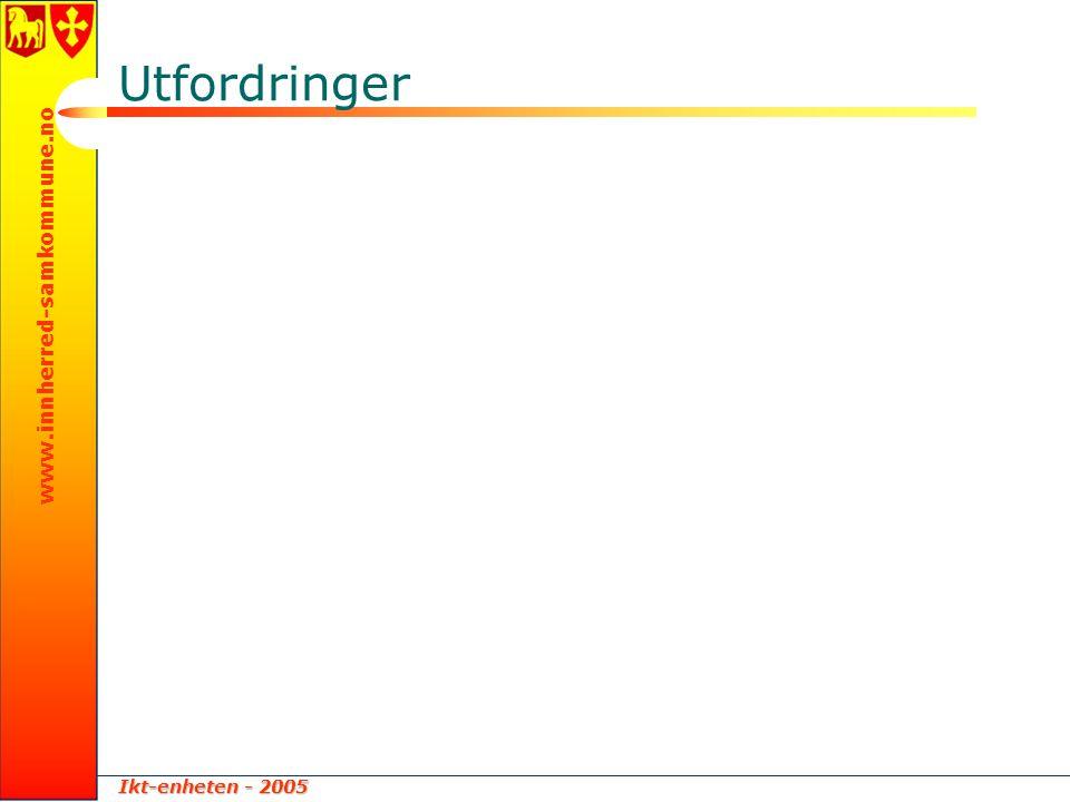 Ikt-enheten - 2005 www.innherred-samkommune.no Utfordringer