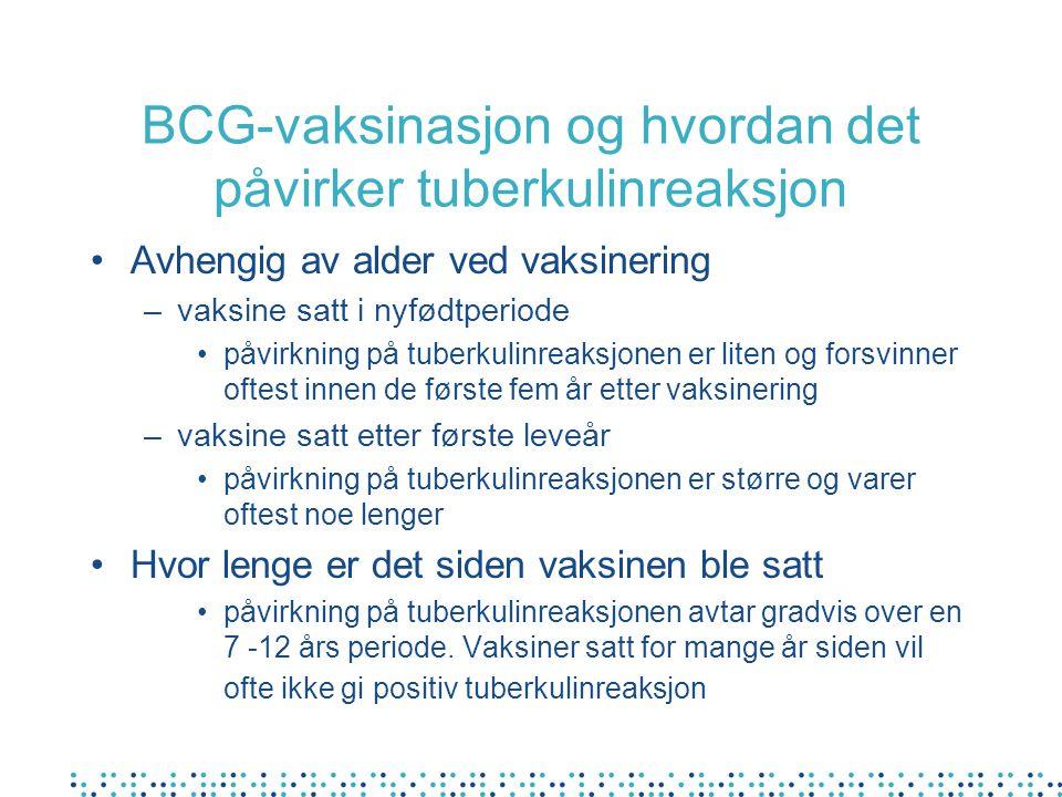 Anbefaling for henvisning etter screening av ulike grupper med plikt til tuberkuloseundersøkelse jfr forskrift om tuberkulosekontroll: Utkast