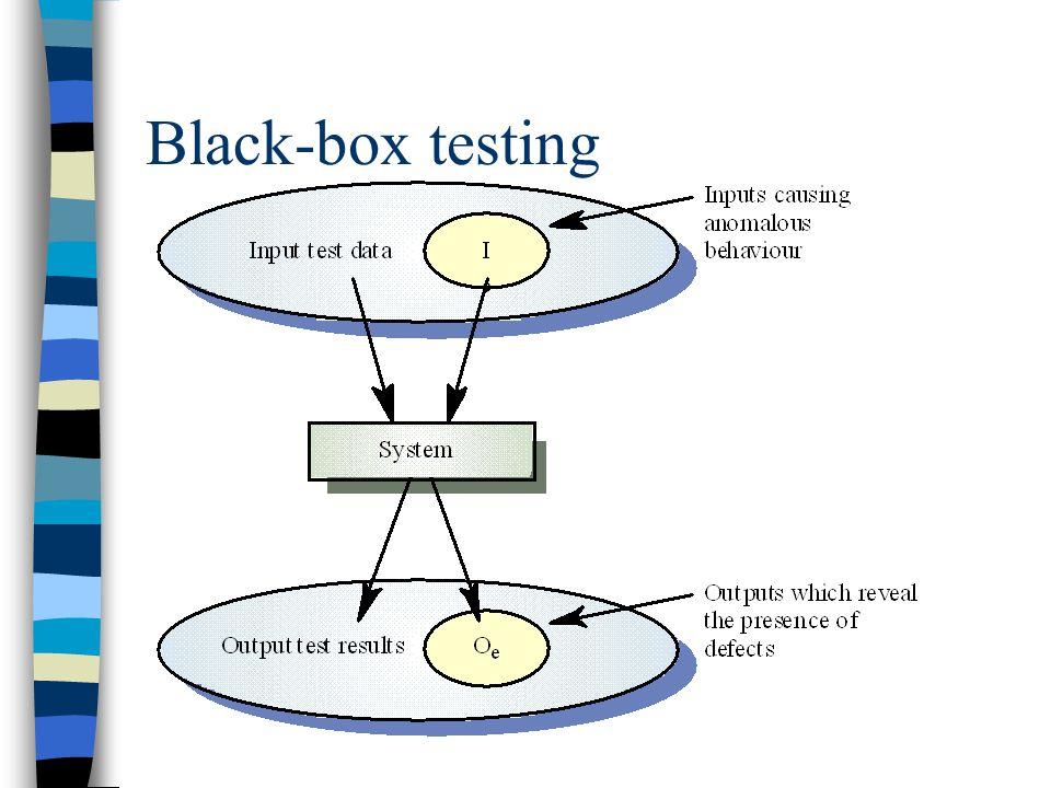 Ekvivalenspartisjonering  Systemets inndata kan kategoriseres  En ekvivalenspartisjon er en mengde inputdata som behandles likt  Ekvivalenspartisjoner kan identifiseres fra spesifikasjonen  Retningslinje: Velg data som ligger midt i ekvivalenspartisjone og på grensa – atypiske verdier.