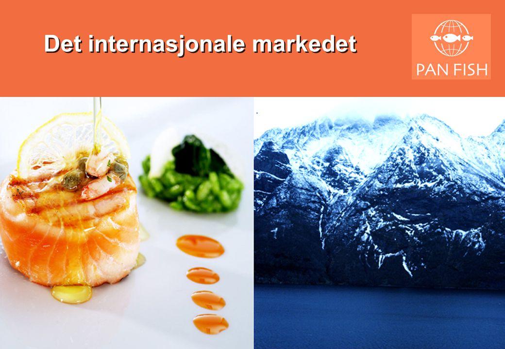 Matmarkedet i verden •Det konsumeres ca 225 millioner tonn mat i EU •Av dette er 55 millioner tonn kjøtt –Av dette er 7 millioner kylling •Sjømatkonsumet er 17 millioner tonn –Av dette er atlantisk laks ca 700 tusen tonn •Så vi har kun ca 4% av sjømatkonsumet –Og nesten ingen ting av matvarekonsumet •I dette ligger det –Mest av alt enorme muligheter –Men også store trusler