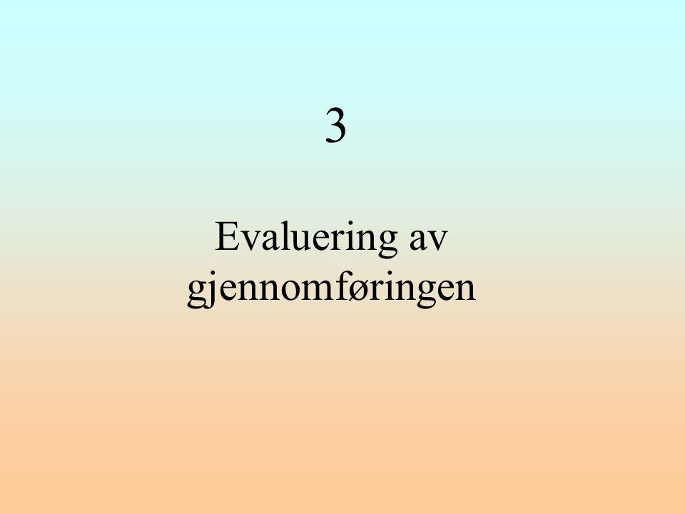 3 Evaluering av gjennomføringen