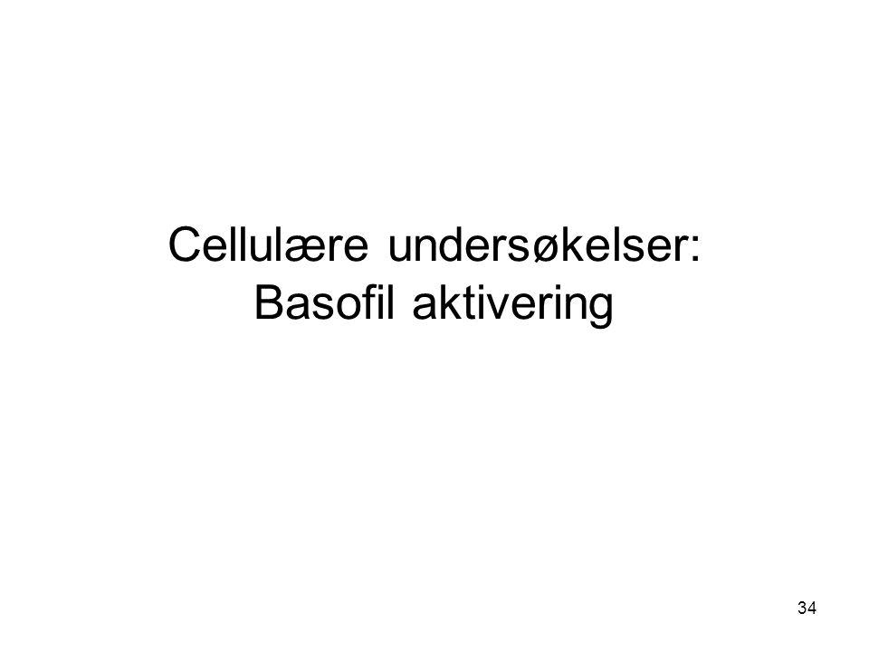 34 Cellulære undersøkelser: Basofil aktivering