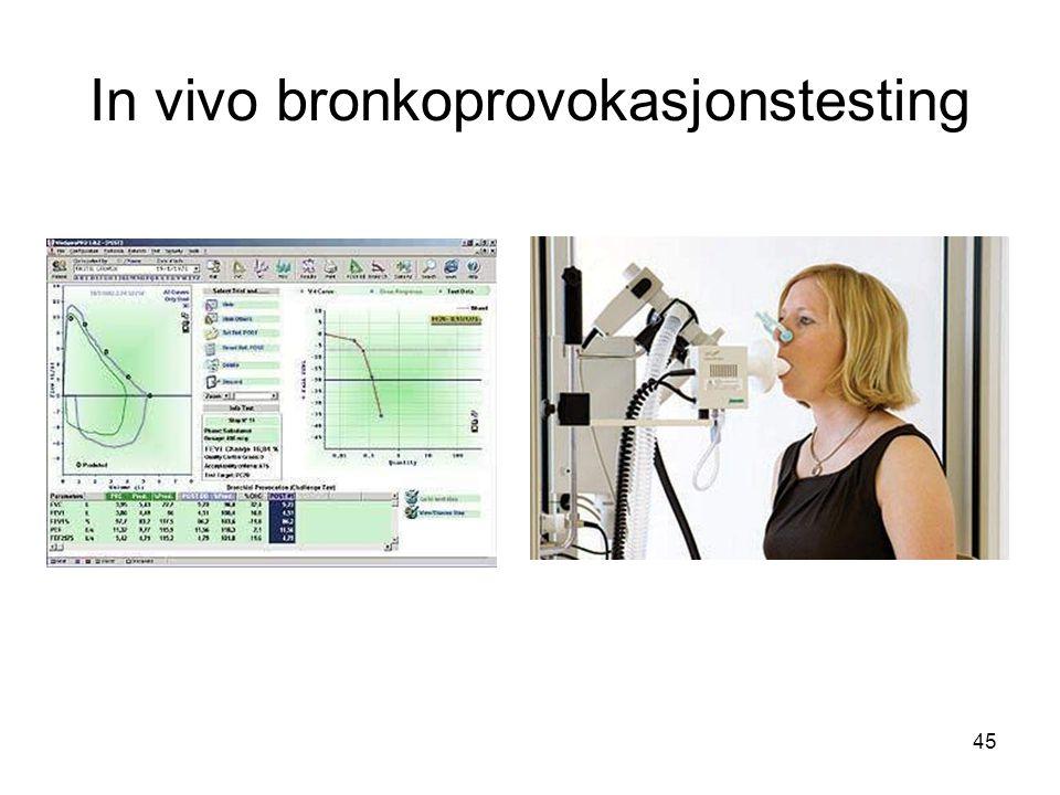 45 In vivo bronkoprovokasjonstesting