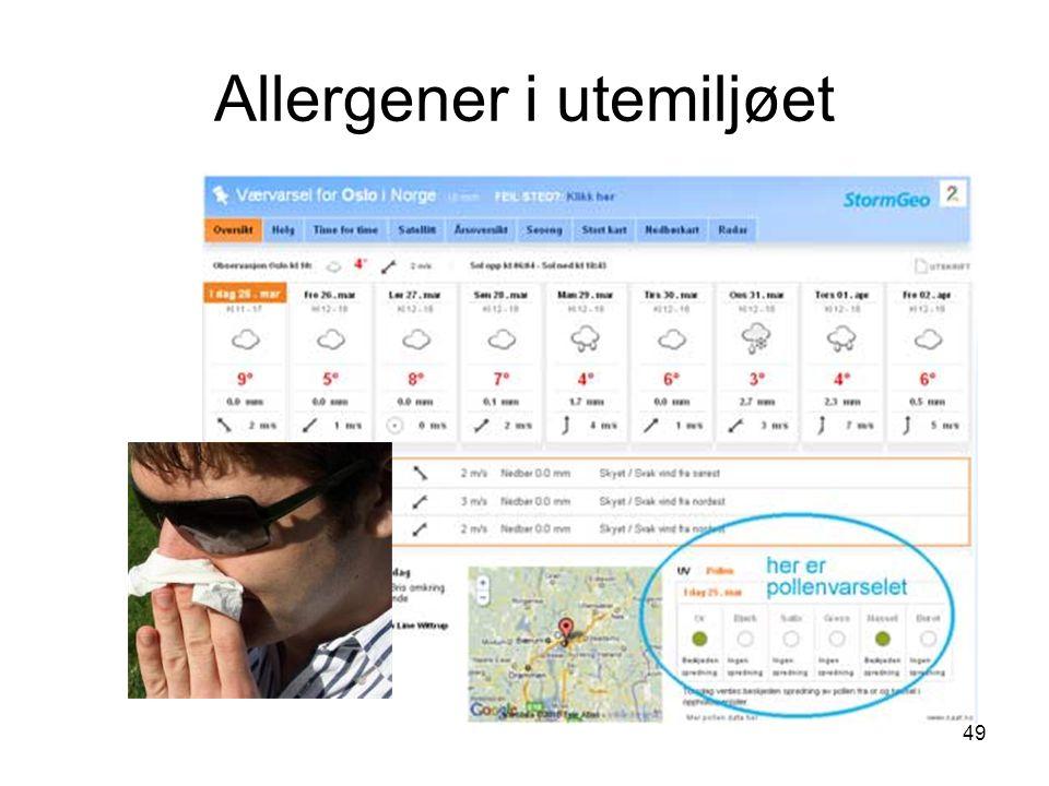 49 Allergener i utemiljøet
