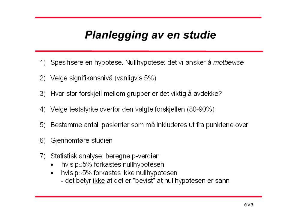 Planlegging av en studie eva