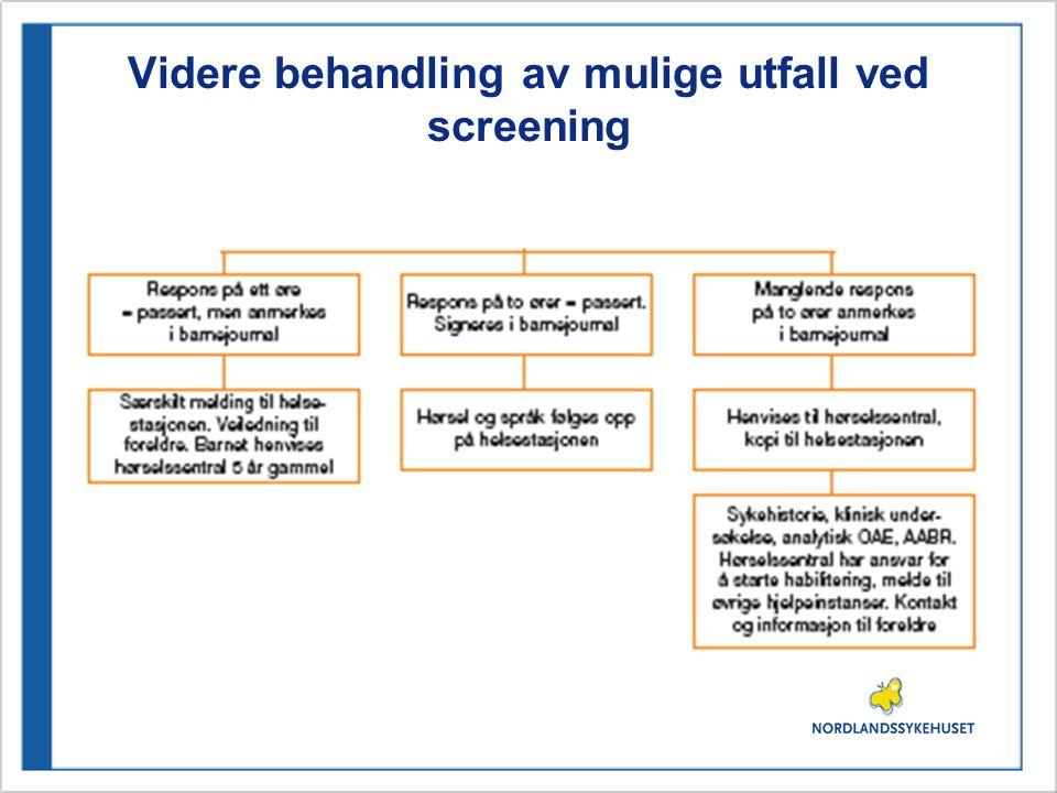 Anbefales ikke Distraksjonstester BOEL-test og andre former for distraksjonstester anbefales ikke videreført som screeningsmetode på barn etter at OAE er innført som screeningsmetode.