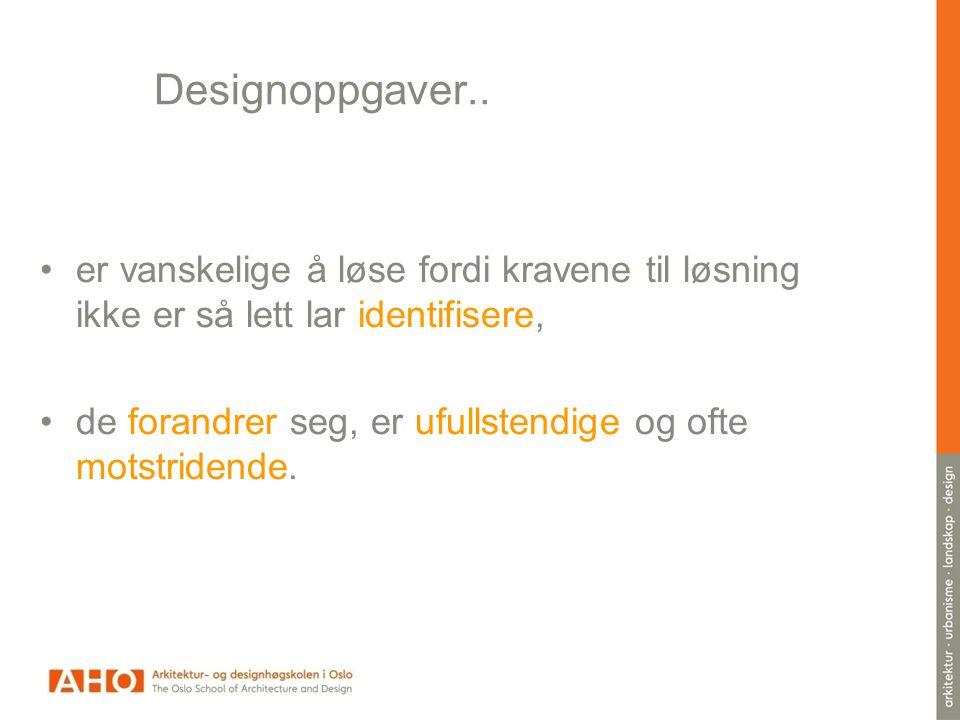 Designoppgaver..