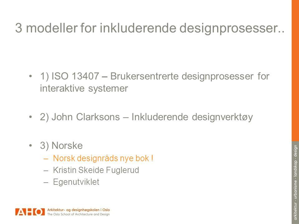 3 modeller for inkluderende designprosesser..