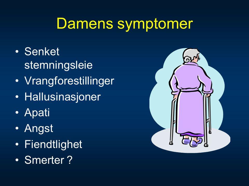 symptomer på demens