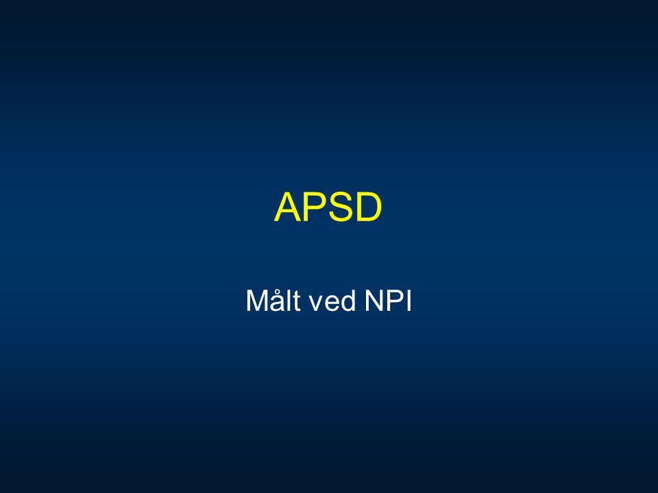 APSD Målt ved NPI