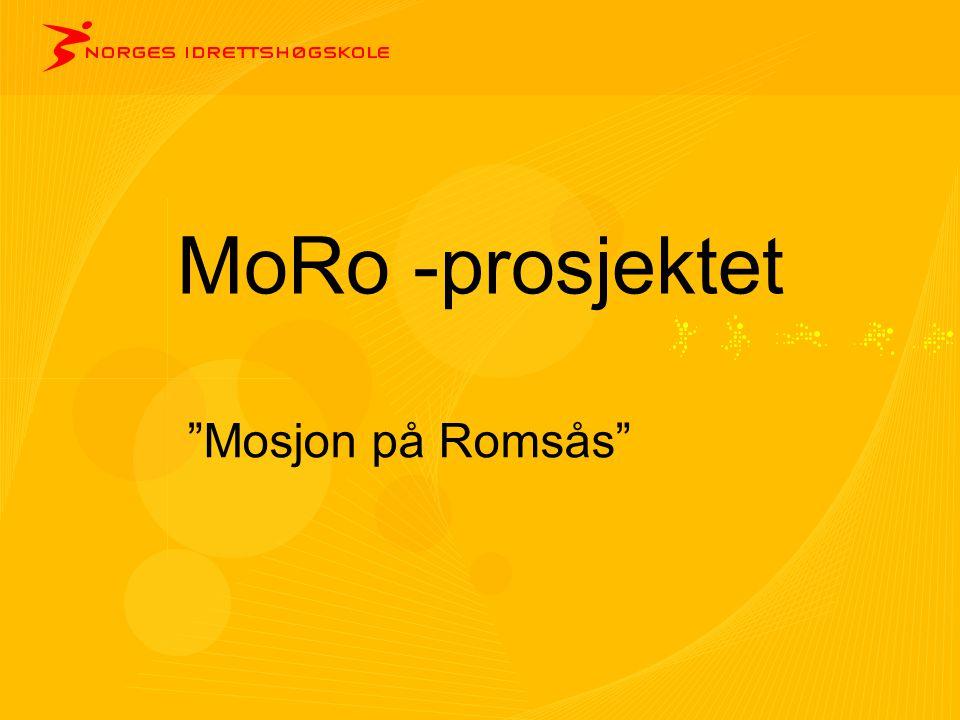 """MoRo -prosjektet """"Mosjon på Romsås"""""""