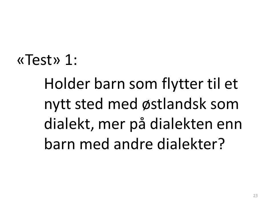 Har vi da noe mer nasjonalt talemål i Norge, eller har vi det ikke? • Talemålsforskerne er uenige, her er noen mulige «tester» sett fra mitt perspekti