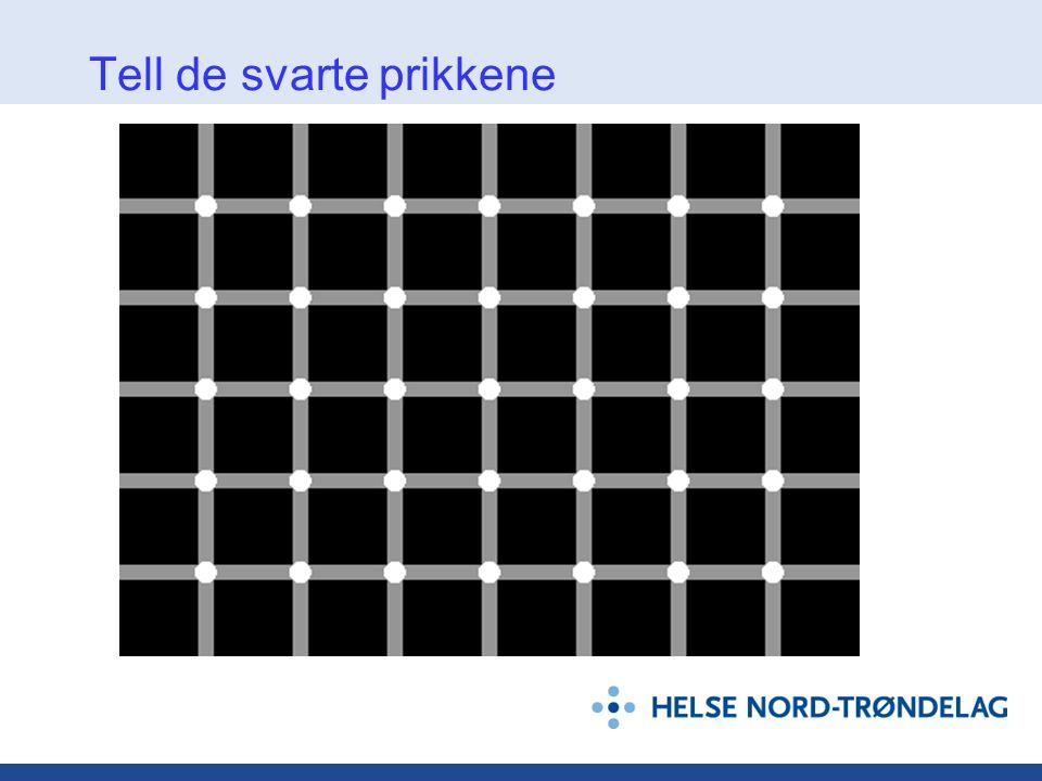Tell de svarte prikkene