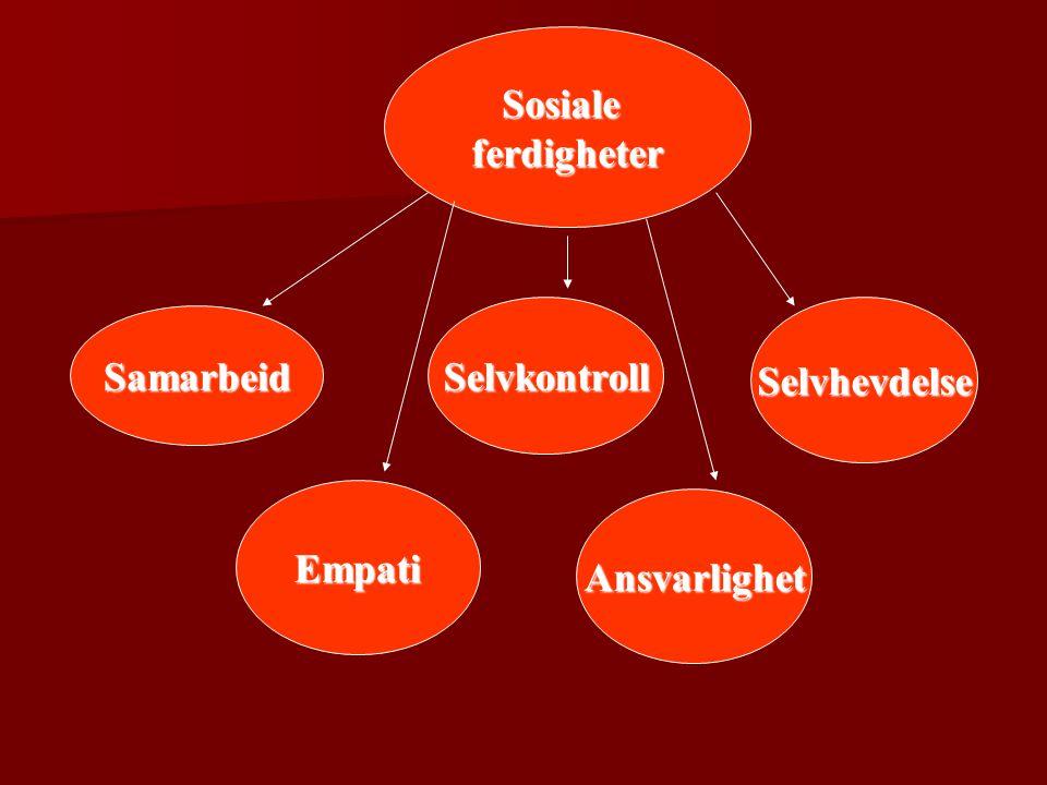 Sosialeferdigheter Samarbeid SelvkontrollSelvhevdelse Empati Ansvarlighet