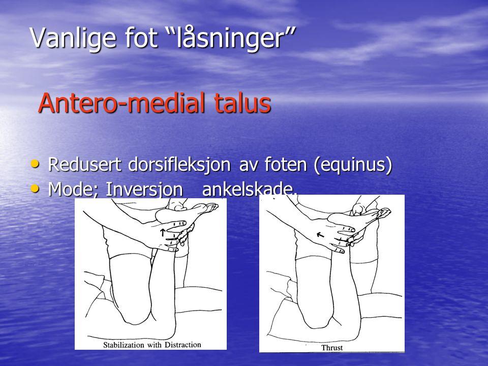 Undersøkelse metoder • Statisk palpering • Funksjonell palpering • Muskel testing