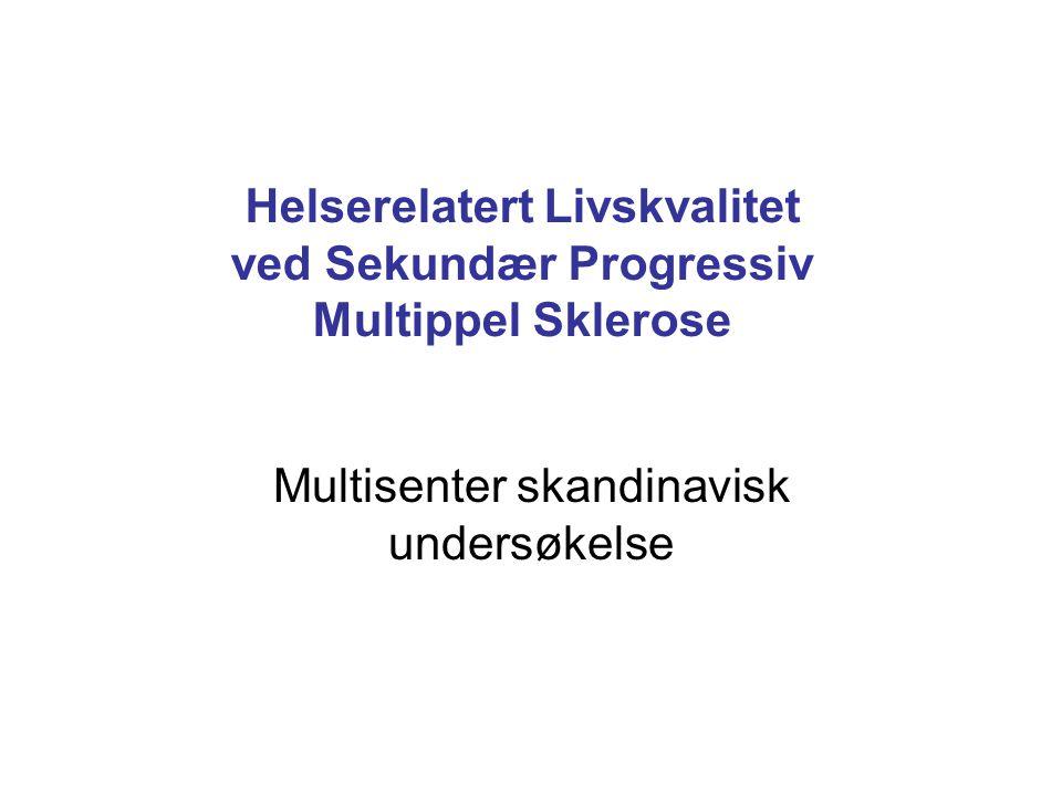 Helserelatert Livskvalitet ved Sekundær Progressiv Multippel Sklerose Multisenter skandinavisk undersøkelse