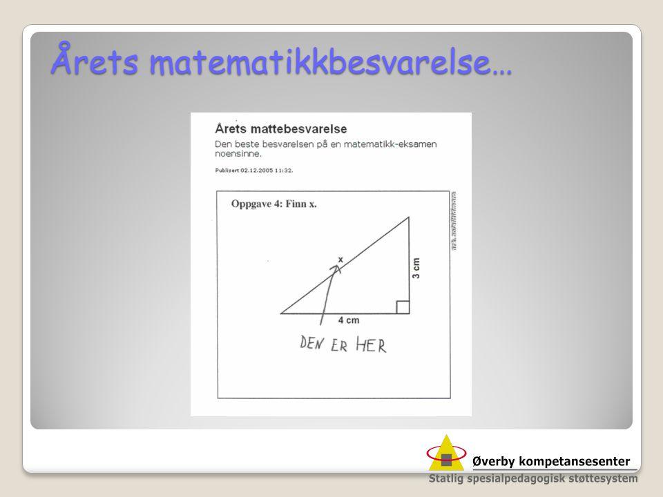 Årets matematikkbesvarelse…