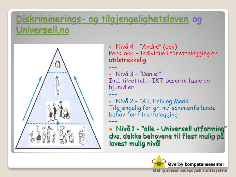 Diskriminerings- og tilgjengelighetsloven og Universell.no Diskriminerings- og tilgjengelighetsloven og Universell.no Diskriminerings- og tilgjengelig