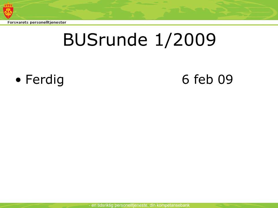 BUSrunde 1/2009 •Ferdig 6 feb 09